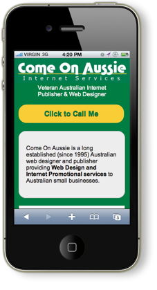 Come On Aussie mobile site